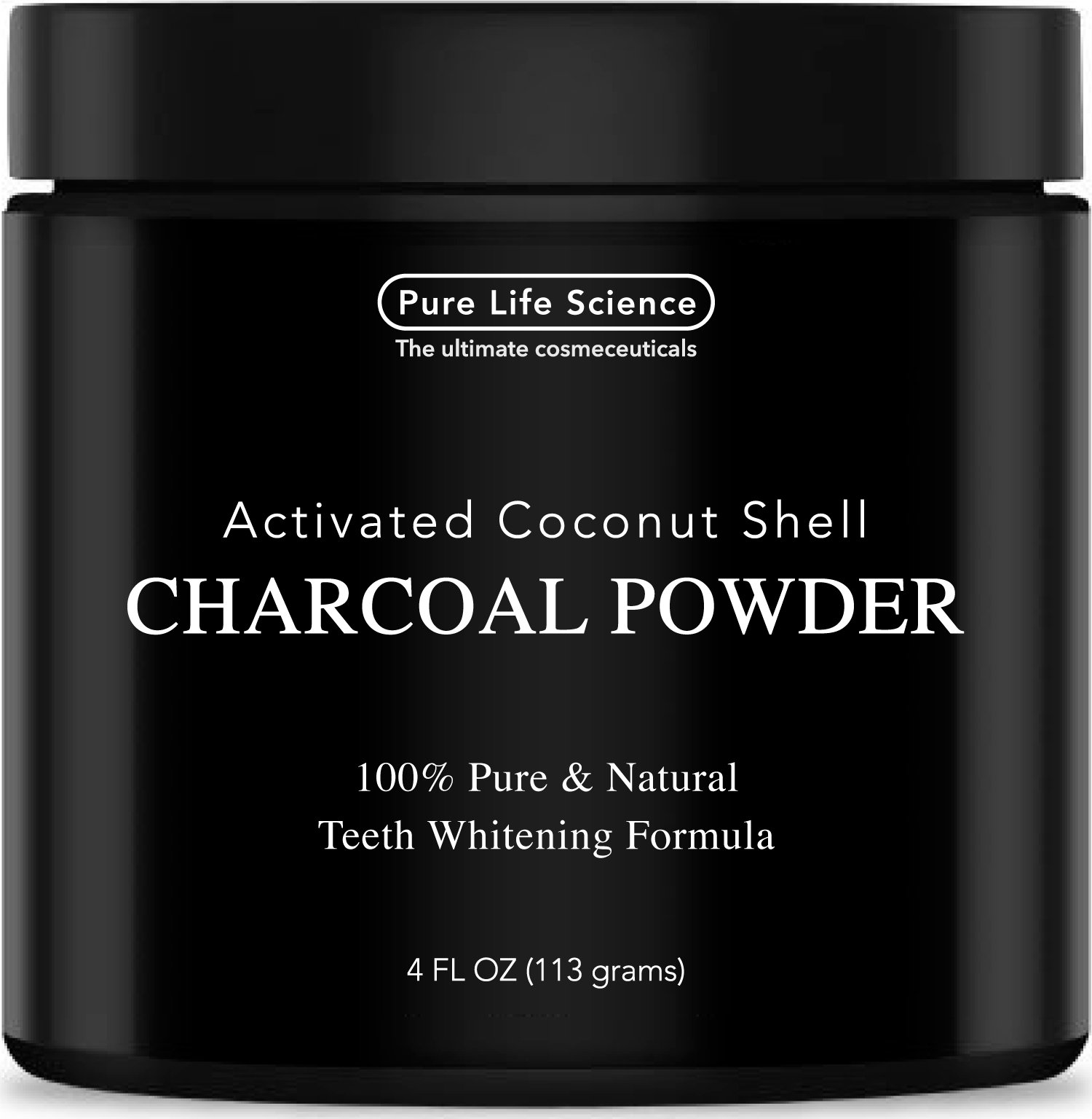 100% Pure Teeth Whitening Activated Charcoal Powder – HUGE 4OZ – Guaranteed to Brighten Teeth Up to 8 Shades Lighter