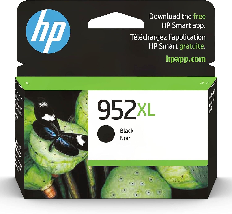 HP 952XL   Ink Cartridge   Black   Works with HP OfficeJet Pro 7700 Series, 8200 Series, 8700 Series   F6U19AN