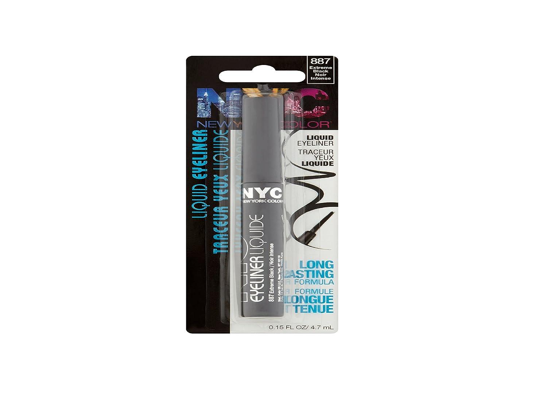 Line Art Matte Eyeliner : Amazon.com : new york color liquid eyeliner extreme black 0.15 oz