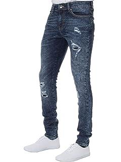 Nouveau Pantalon Jean Denim Mode pour Homme Enzo Extensible décontracté  Super Skinny déchiré 979888f540a0