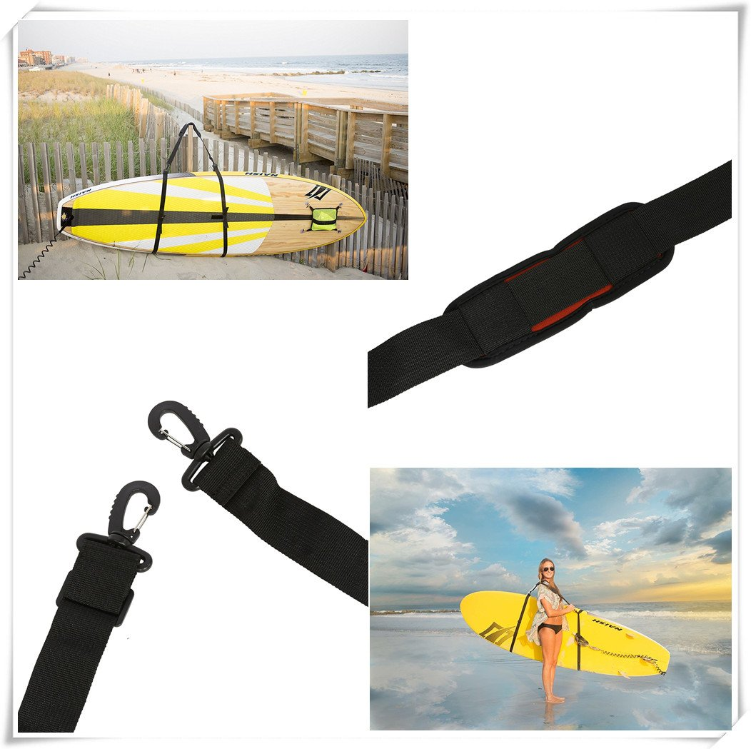 Stand Up Surfboard Straps - Surfboard/Paddleboard Carrier Shoulder Carry Strap Easy Carry Storage Strap Shoulder Sling - Longboard Carry Strap Adjustable Board Strap by Vbestlife (Image #5)