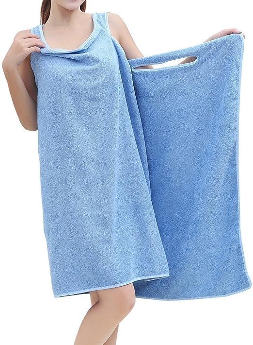 albornoz toallas microfibra todo en uno absorbente Seco R/ápidamente Super Suave albornoz toalla Wearable Toallas de Ba/ño toalla piscina playa mujer ducha