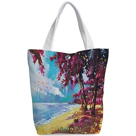 Blue Blossoms Print Sports Bag
