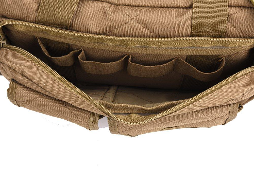 REEBOW TACTICAL Tactical Gun Range Bag Deluxe Pistol Shooting Range Duffle Bags Black by REEBOW TACTICAL (Image #8)