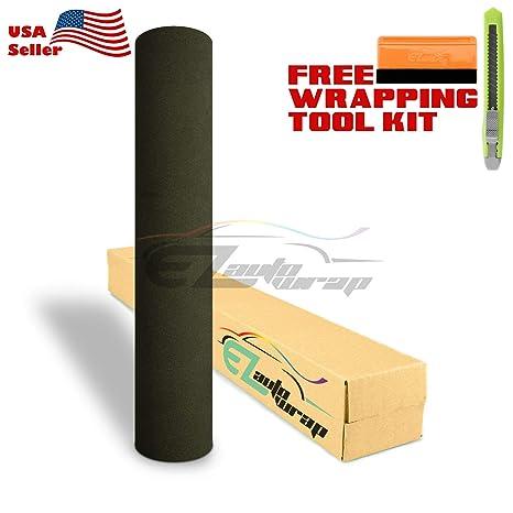 *Premium Army Green Velvet Suede Textured Sticker Decal Vinyl Wrap Self Adhesive
