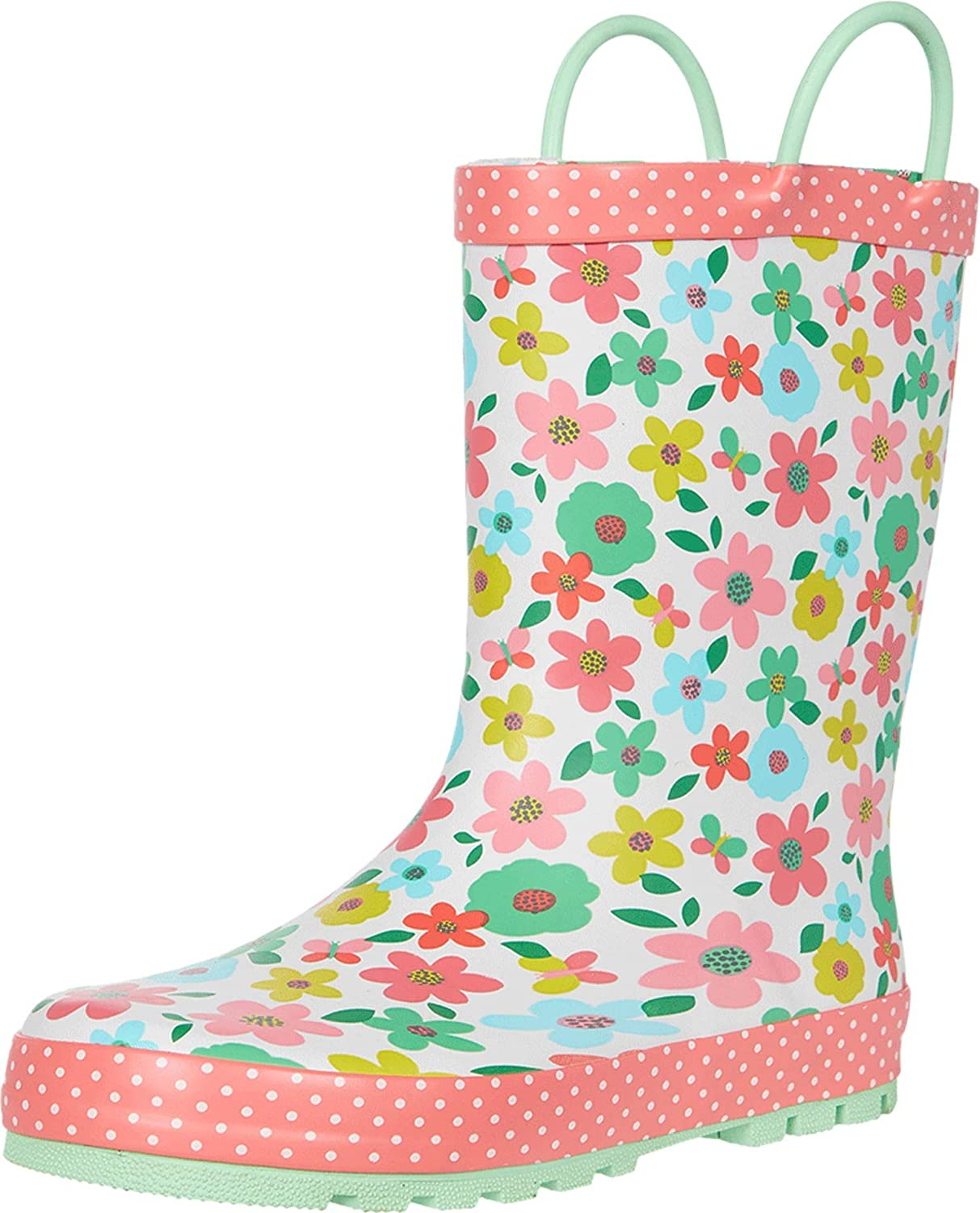 Western Chief Kids Girl's Charming Garden Rain Boots (Toddler/Little Kid/Big Kid)