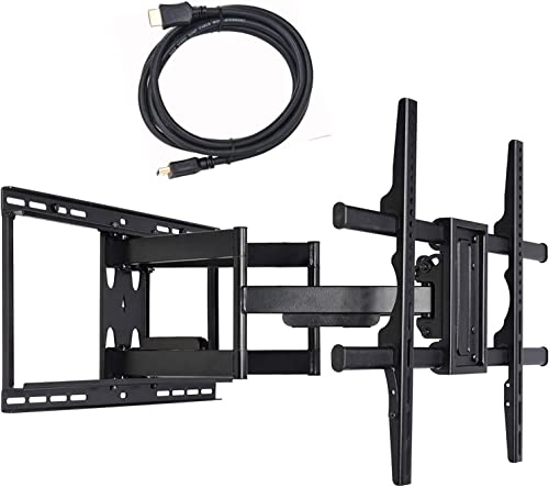 VideoSecu 24 inch Extension Full Motion Swivel Articulating TV Wall Mount Bracket for Most 40 -90 LED LCD OLED Plasma Flat Screen TV with VESA 684×400,600×400,400×400,200x200mm MW480B BCL Renewed