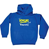 123t Kids Funny Hoodie - Its A Bowling Bowels Thing V1 - Childrens Hoody Hoodie Jumper