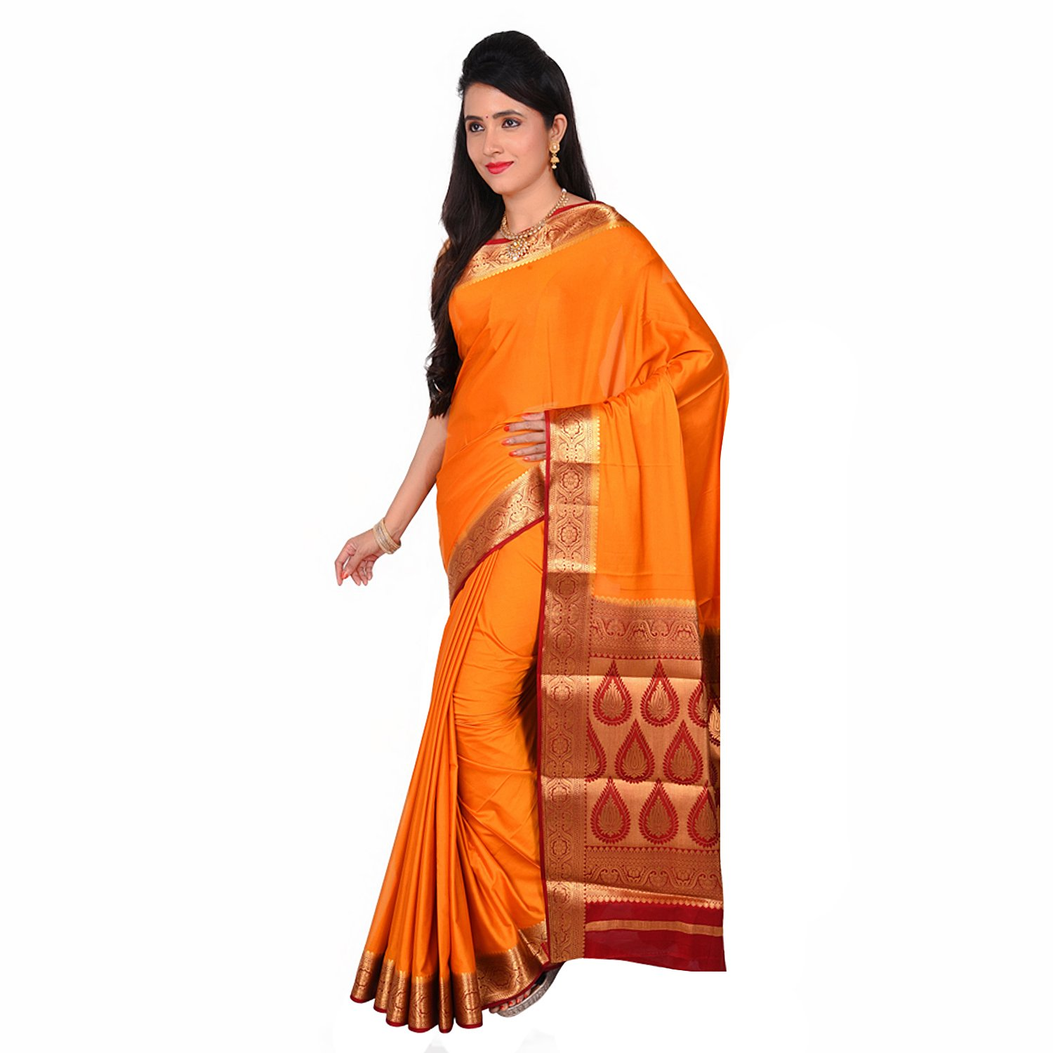 665bf9389ffdc BAILEY SELLS Women s Attractive Traditional Crepe Mysore Silk Saree with  Blouse Piece (BL217