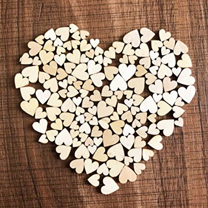 Amazon Com Auxsoul Mother Day Gift 100pc Wood Heart Shaped