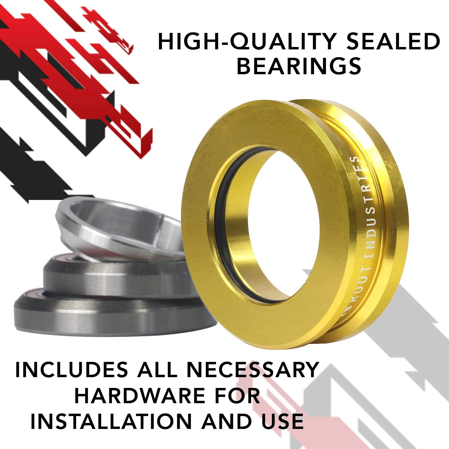 Universal Compatibility Quality Smooth Fast Sealed Bearings Pro Trick Stunt Headset Premium Color Option 1-⅛ Freestyle BMX Kick Push Scooter Integrated Headset AIR Tall Stack Headset