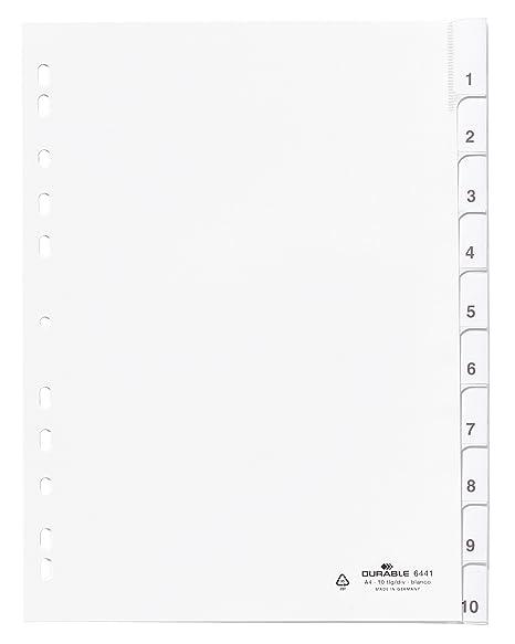 Durable 644102 - Separadores para archivador (A4, 10 ...