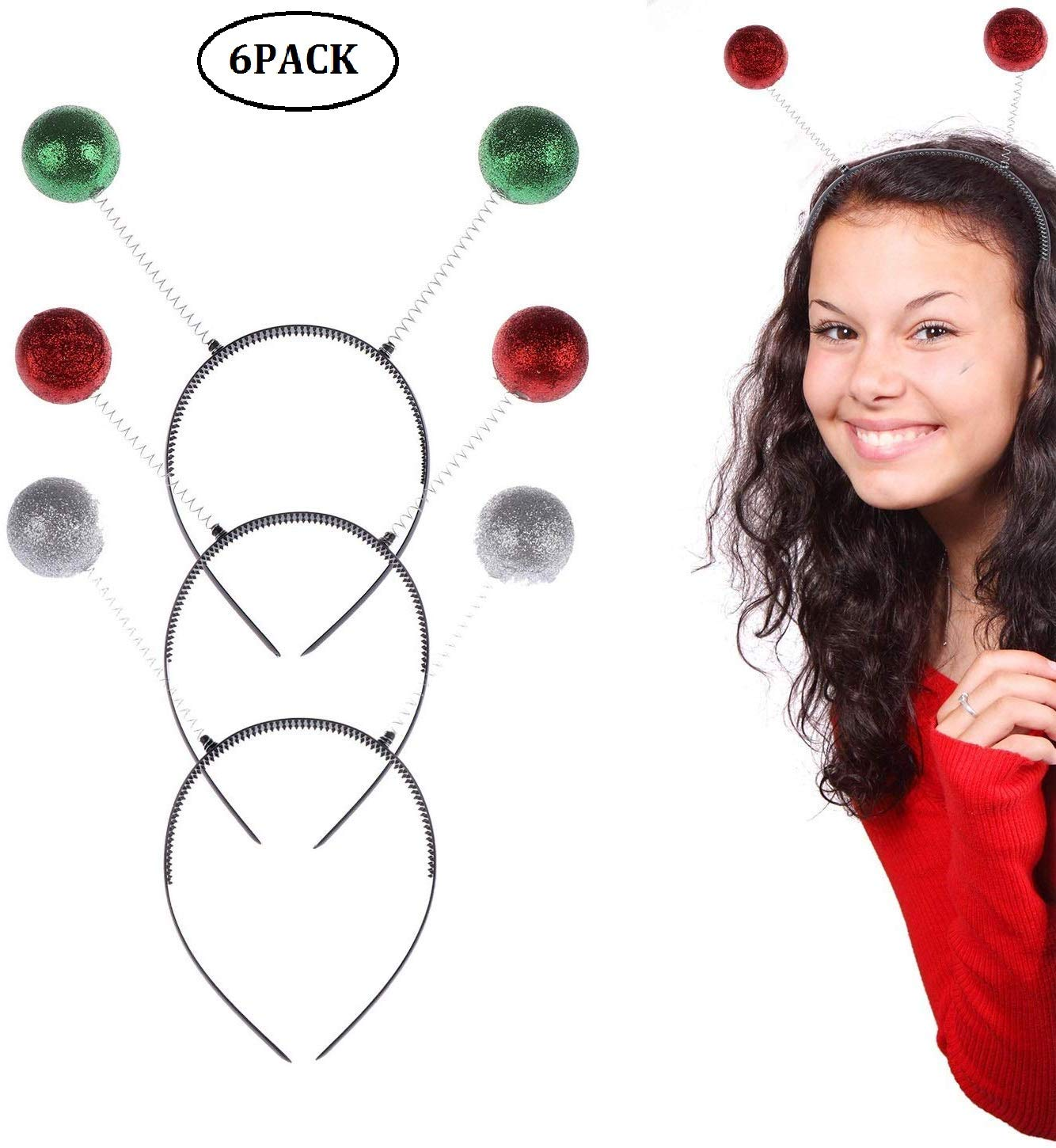 Adults Christmas Head Boppers Ladies Fancy Dress Costume Accessories Novelty