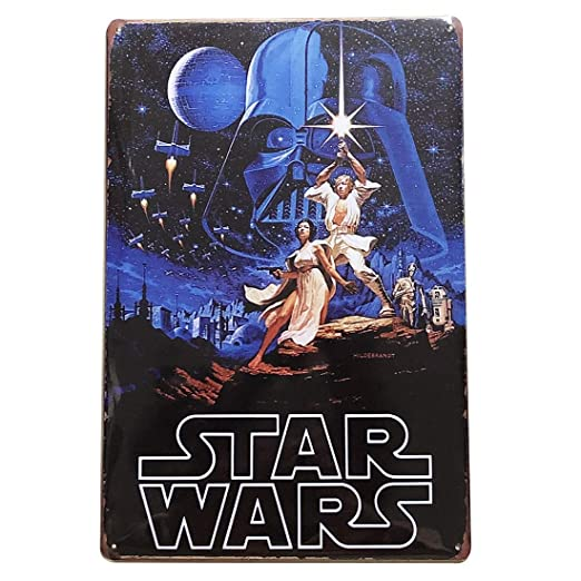 1977 Star Wars Cartel de hojalata, Retro Vintage, Placas de ...