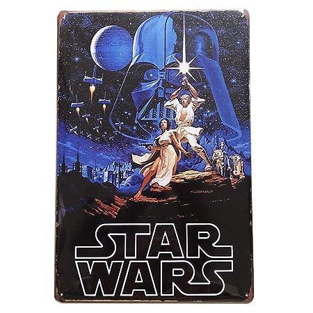 Froy Star Wars Targa in Metallo a Parete Targa in Ferro retr/ò Pittura Targa in lamiera Lamiera Personalizzata per creativi dArte Personalizzata Artigianato per Bar caffetteria Garage