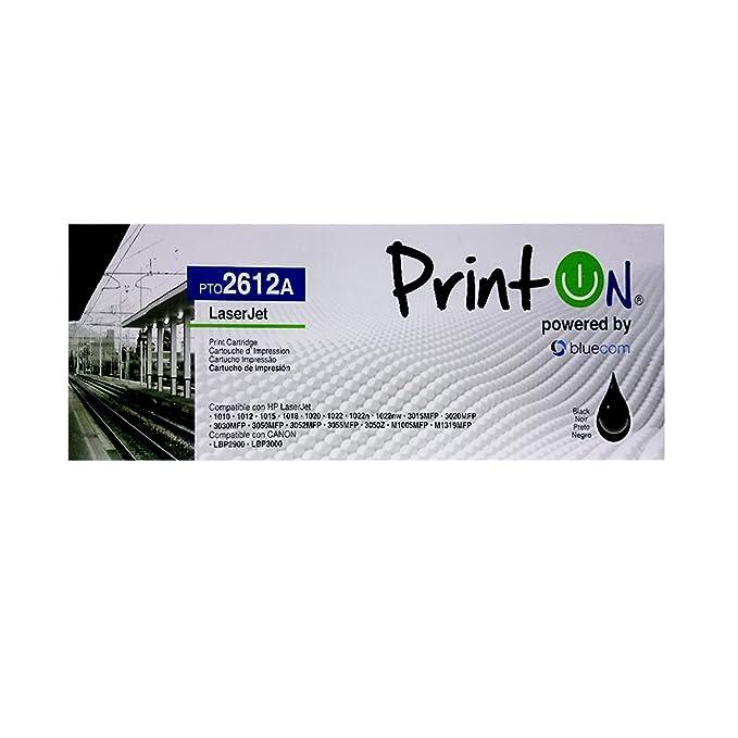 Amazon.com: PrintOn pto2612 a Compatible con HP Q2612 A de ...