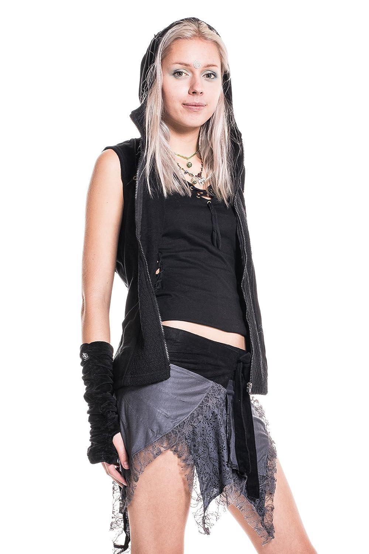 Lace Pixie Skirt, Psy Trance Clothing, Festival Miniskirt, Tribal Mini Skirt, Doof, Boho, Elf, Psytrance, Ragged, Asymmetrical, Emo Skirt