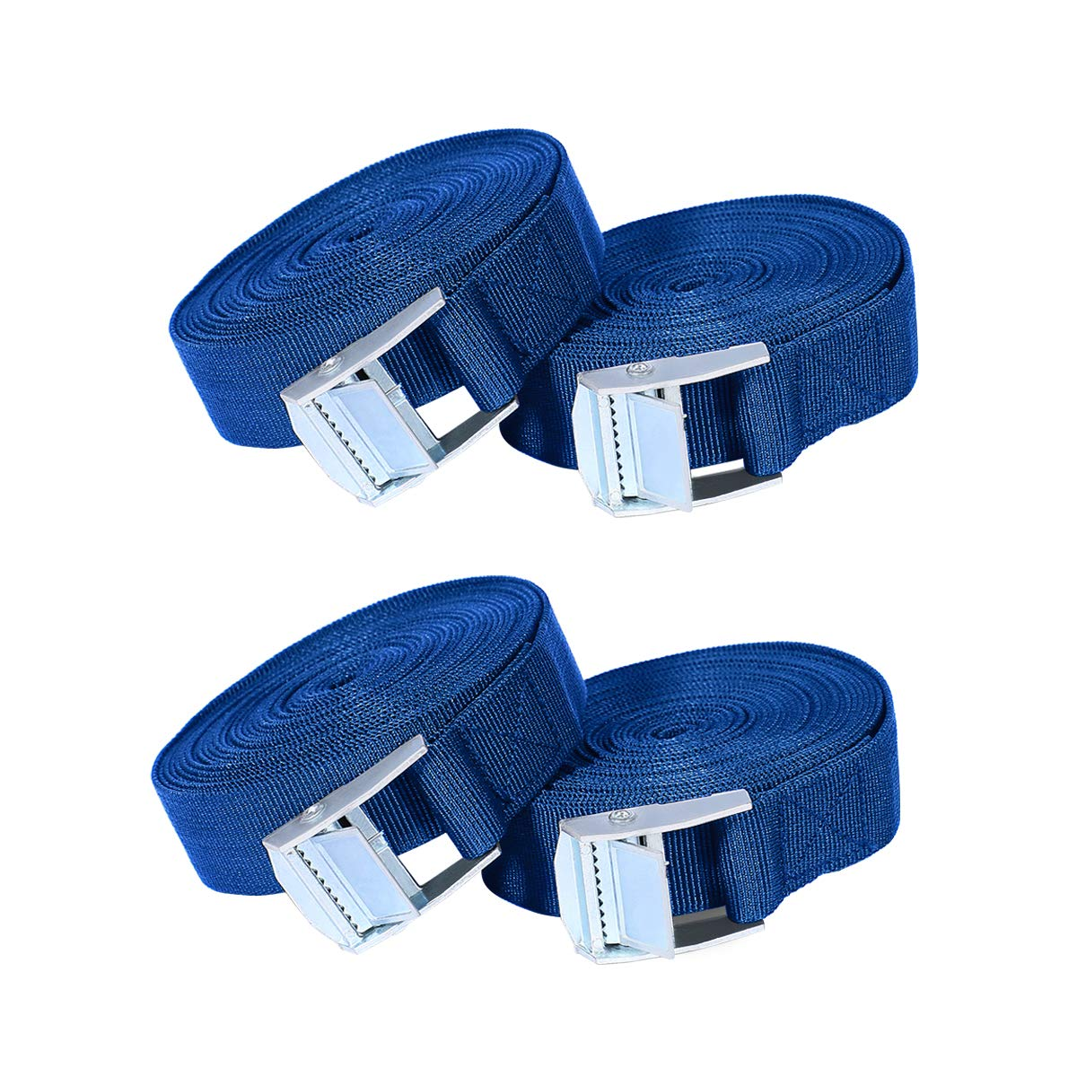 Ratchet Straps, 4 Pack 16ft Ratchet Tie Down Straps Lashing Strap Heavy Duty Tensioning Belts Trailer Cargo Straps with Quick Release Cambuckle for Trucks, Bicycle Carriers, Sup Kayak, Car Luggage AieveDirect