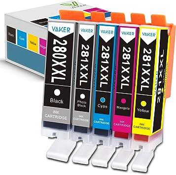 5 PGI-280 XXL CLI-281 XXL Ink for Canon PIXMA TS6120 TS6220 TS8120 TS9120 TS6220
