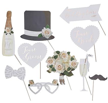 Accesorios para fotos, Photo Booth, accesorios de fiesta para el photocall en tu boda – 10 piezas