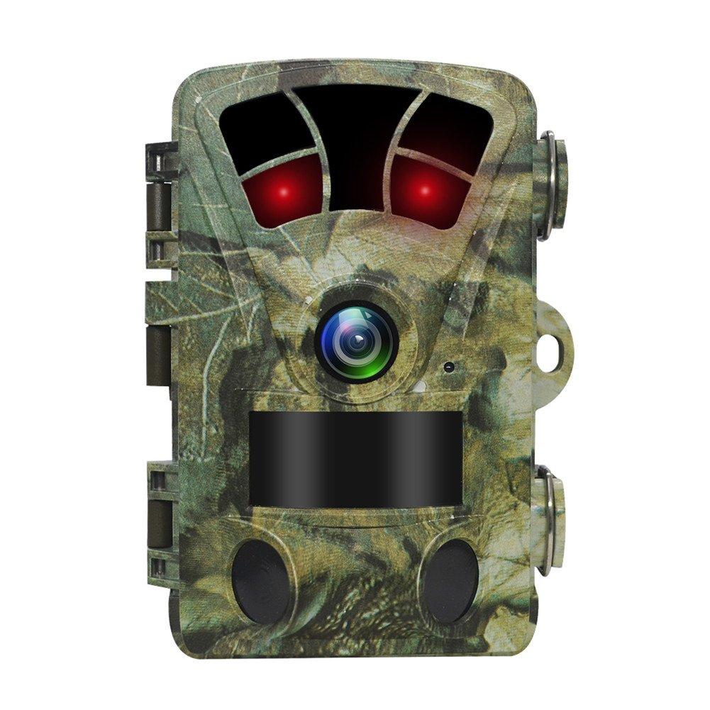 Trail Camera 16MP HD 1080p Wildlife LED IR Nuit Version jusqu'à 20m/19, 8m de chasse d'eau protégée infrarouge tracker 6, 1cm LCD écran extérieur Nature Jardin Sécurité à domicile Surveillance détecteur de mouvement Scout Hunt animaux Caméras vidéo Cam