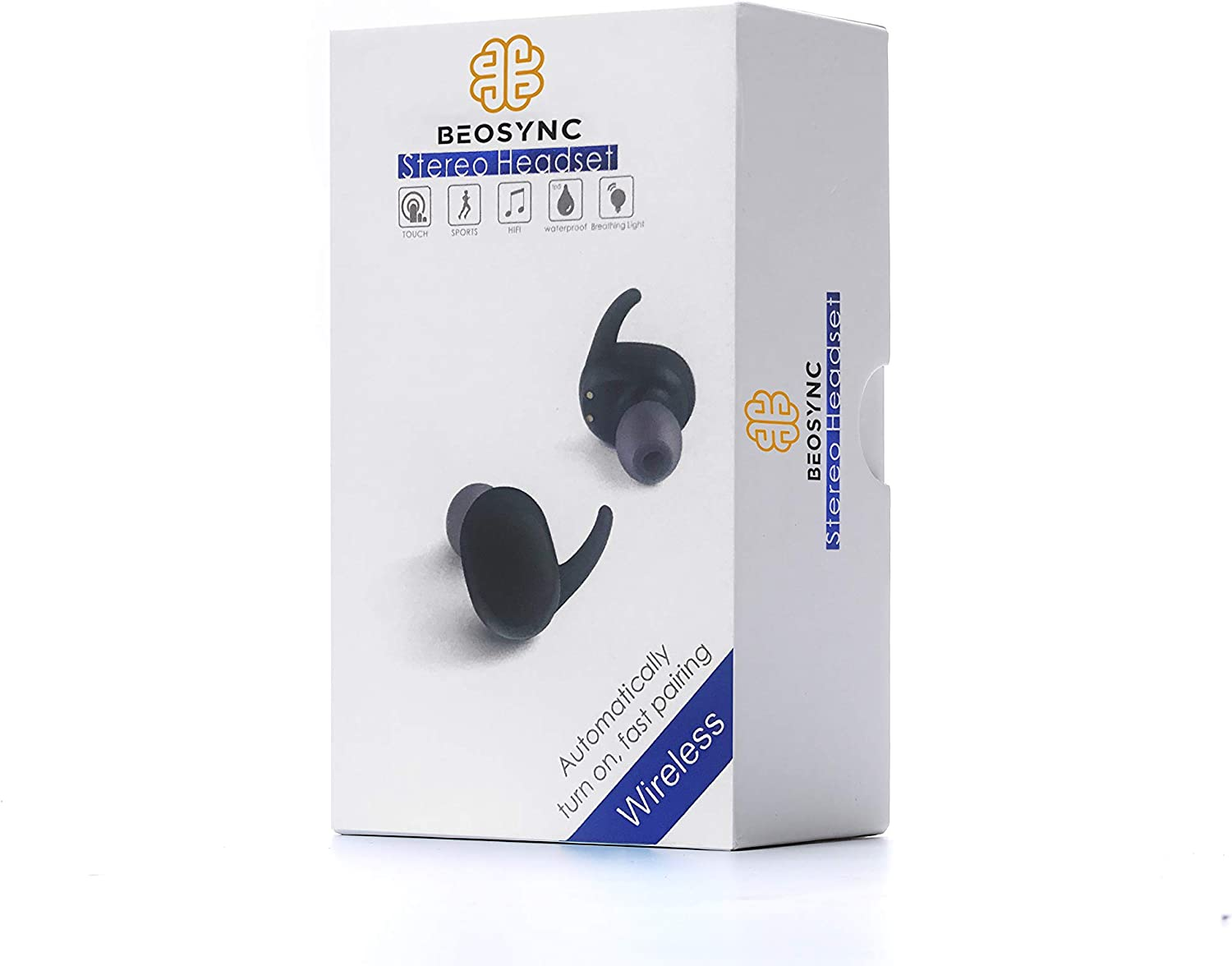 Amazon Com Wireless Earbuds By Beosync Wireless Headphones With Charging Case Waterproof With Full Touch Capabilities Hifi Speakers With Noise Cancelling Technology Bluetooth Headphones Great For Sports Home Audio Theater
