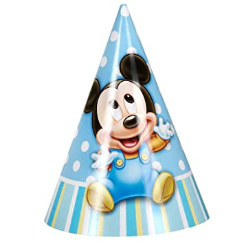 Mickey Mouse 1st Birthday Cone Hats