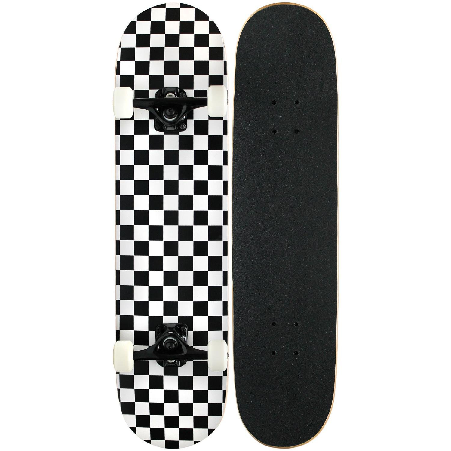 KPC Pro Skateboard Complete, Black and White Checker by KPC