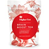 Brain Boost Tea By Higher Tea, Organic Mental Focus Drink Improves Memory Function Naturally, Enhances Clarity, Wellness Without Supplements, Caffeine Free