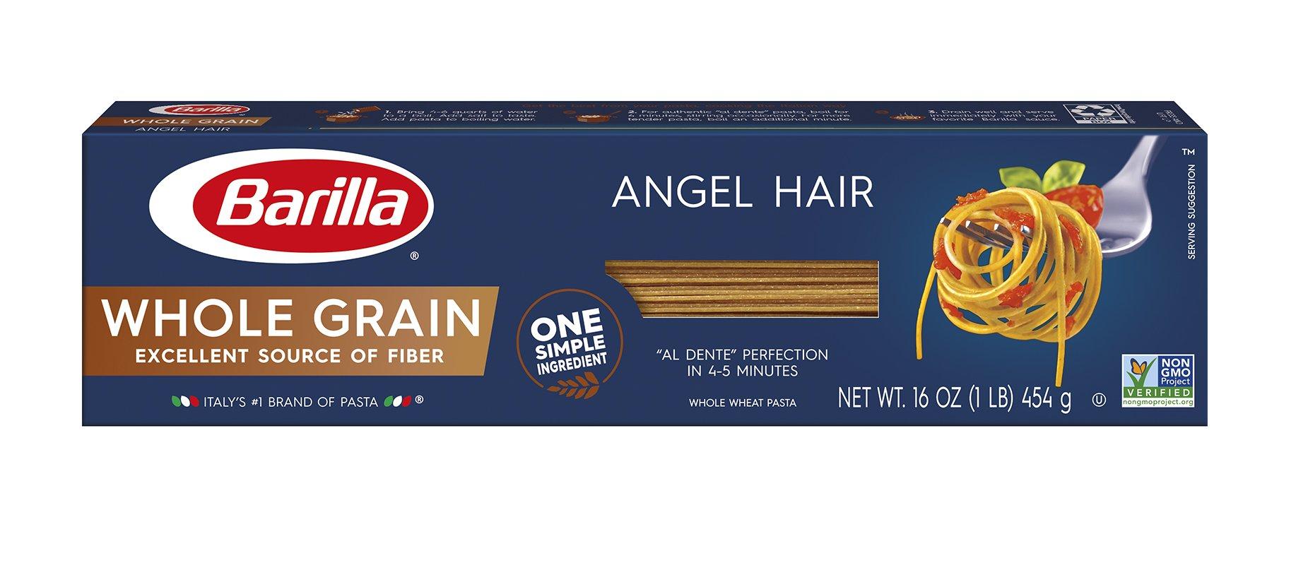 Barilla Whole Grain Pasta, Angel Hair, 16 Ounce