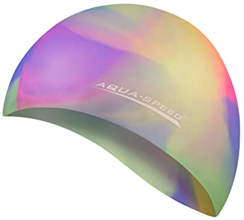 Aqua-Speed Bunt Bonnet de Bain + Serviette en Microfibre   Silicone   Casquette  Baignade d4365dd3878