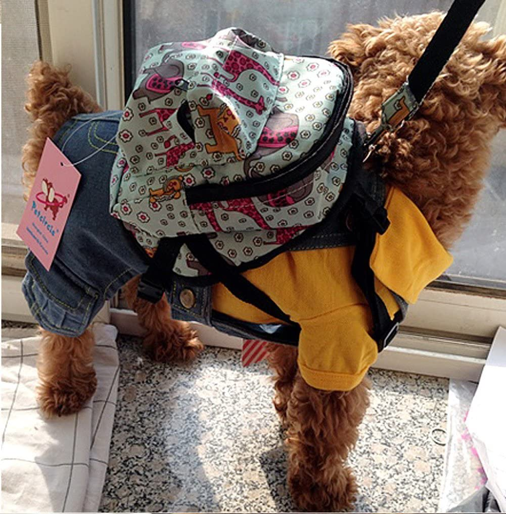 Vivi Bear Cute Animation Pattern Snacks Backpack For Puppy Dogs Cartoon Shoulder Bag for Small Dogs