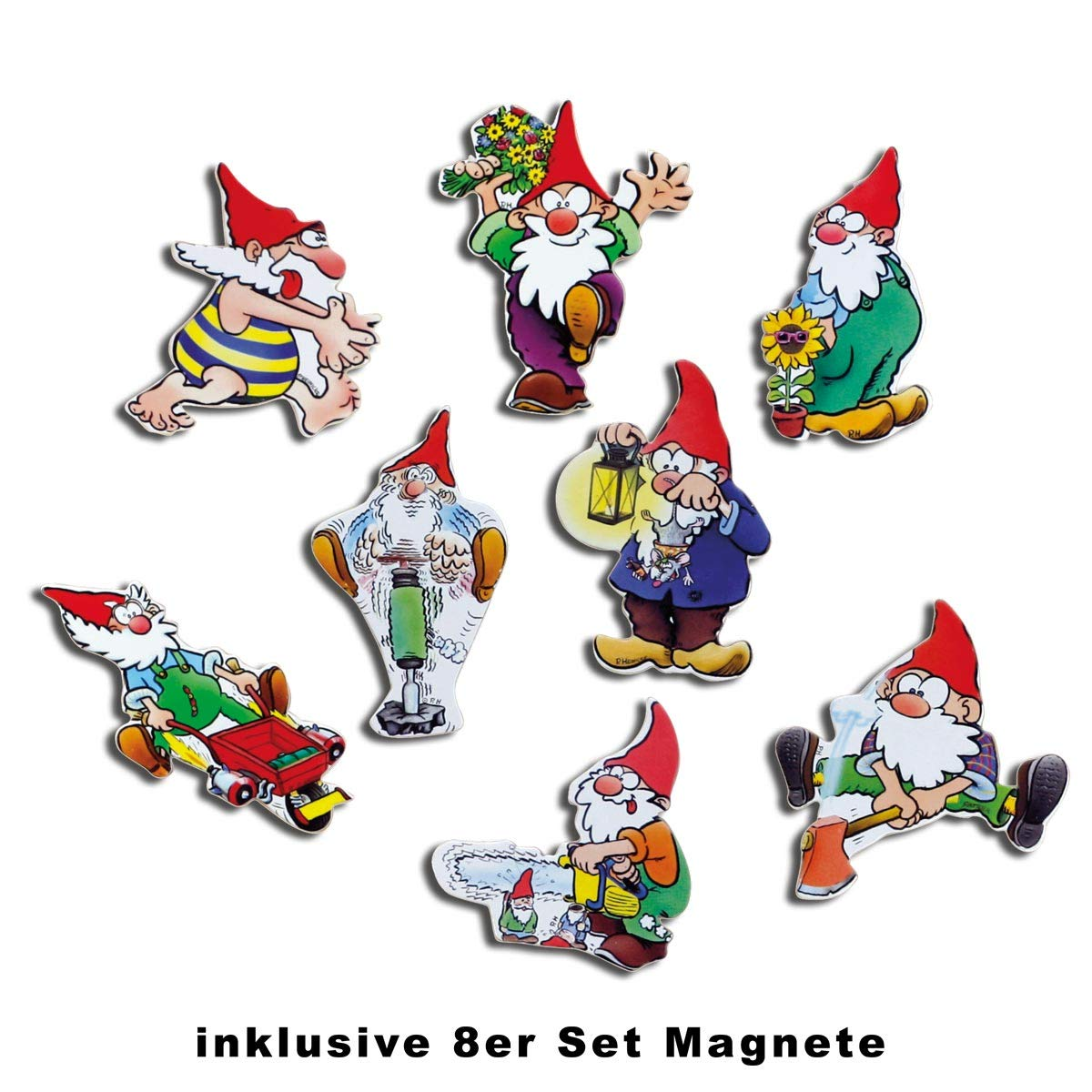 Amazon.de: Magnetisches Memoboard Retro Garten mit Magnete Zwerge ...