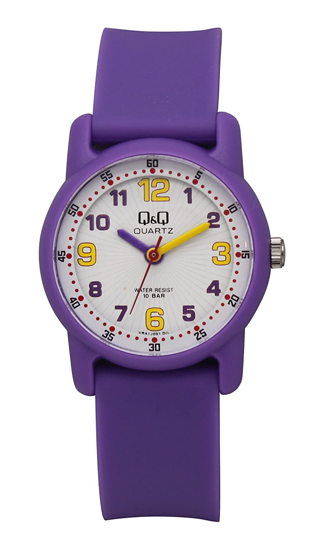 02d7fa42374e Q Q Reloj niños niñas señora sumergible con numeros arabes en varios  colores fabricado por Citizen  Amazon.co.uk  Watches