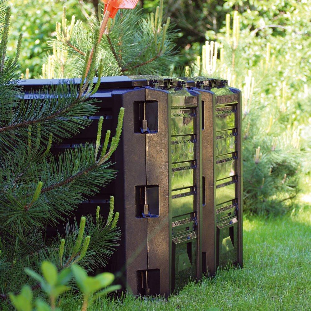 Prosper Plast IKLM1200C-S411 198 x 71,9 x 82,6 cm Módulo Compogreen Composter - Negro (3 módulos=67 Piezas): Amazon.es: Jardín