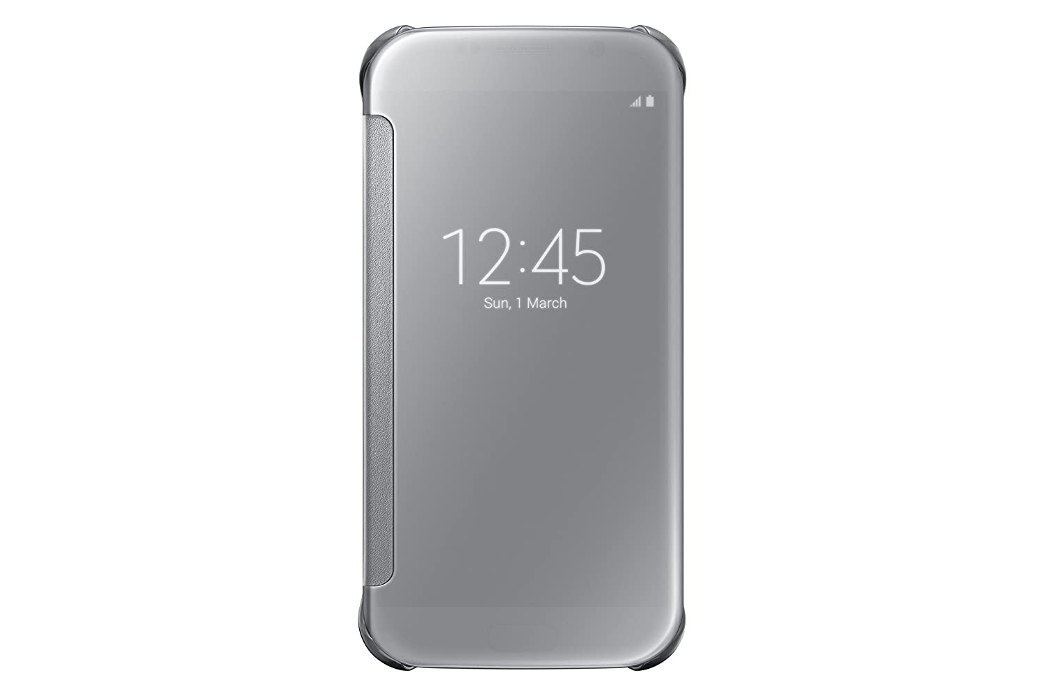 timeless design 8ad2b 5a756 Samsung S-View Flip Cover for Samsung Galaxy S6 - Clear Silver