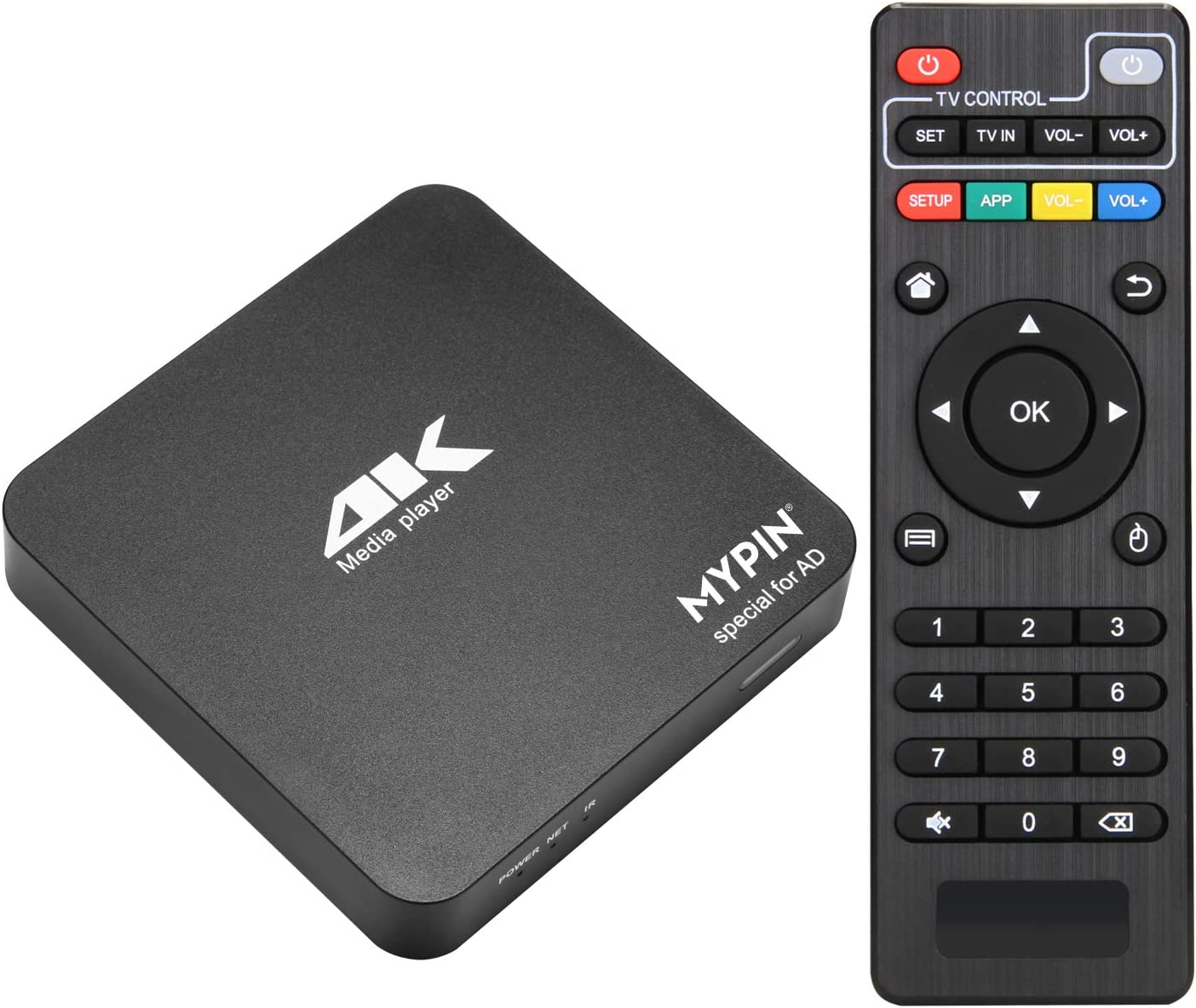 4K@60HZ MP4 Media Player Support 8TB HDD/ 64G USB Drive/SD Card with HDMI / AV Out for HDTV /PPT MKV AVI MP4 H.265- Support Advertising Logo / Subtitles/ HDR and Remote Control