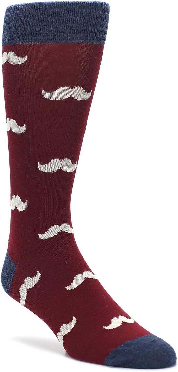 Mens Hipster Mustache Moustache Dress Crew Socks