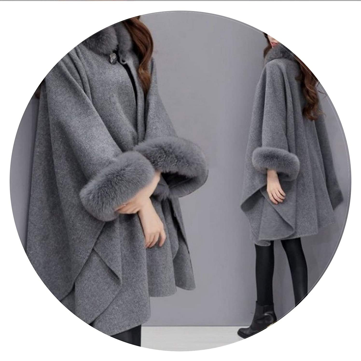Amazon.com: Autumn Womens Wool Coat Long Woolen Coat Female Elegant Cloak Jacket Sweet Fashion Clothes: Clothing