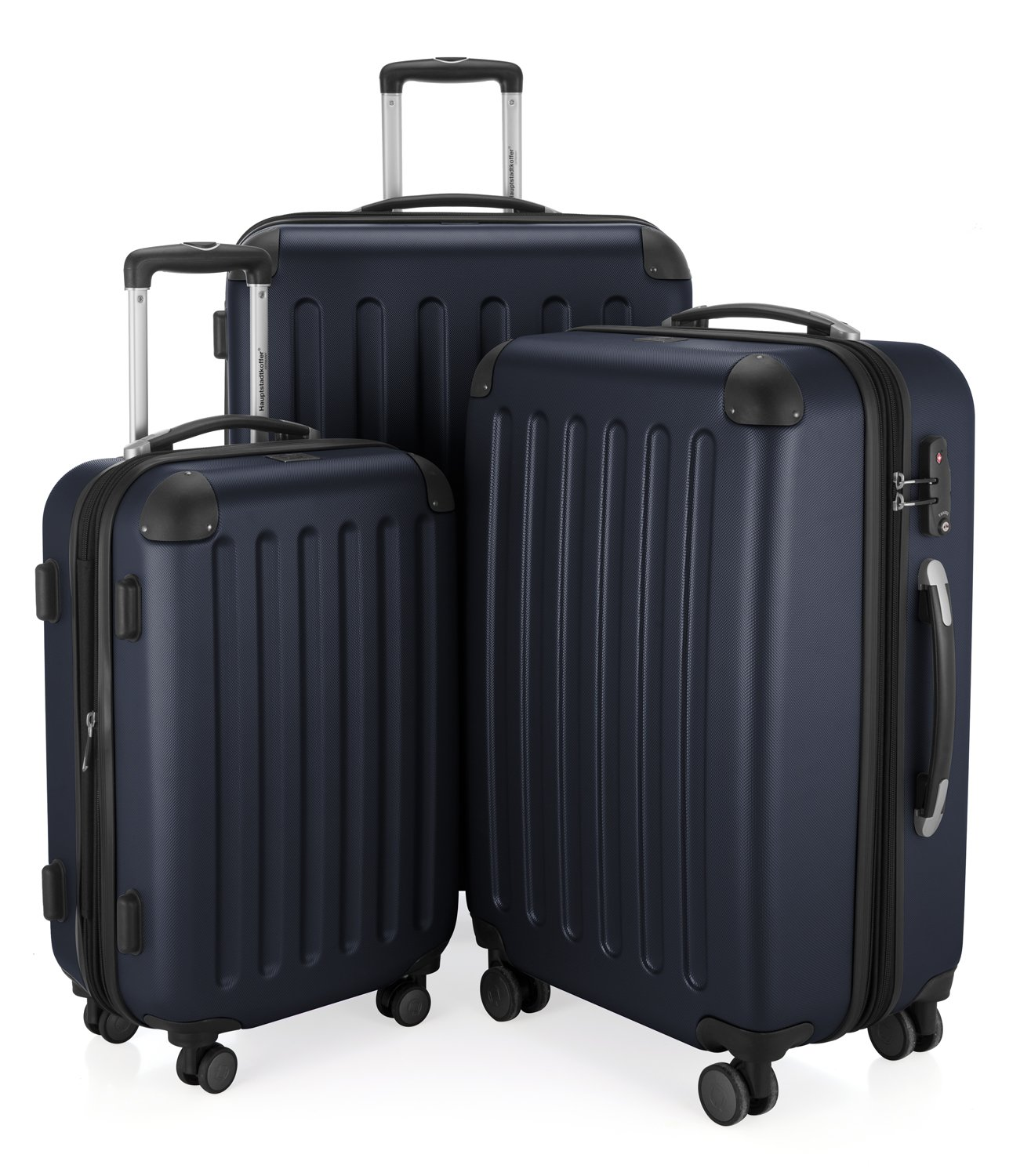 HAUPTSTADTKOFFER - Spree - Bagages Cabine à Main, Valise Rigide, Trolley, ABS, TSA, extra léger, extensible, 4 roues, 55 cm, 49 L, Graphite