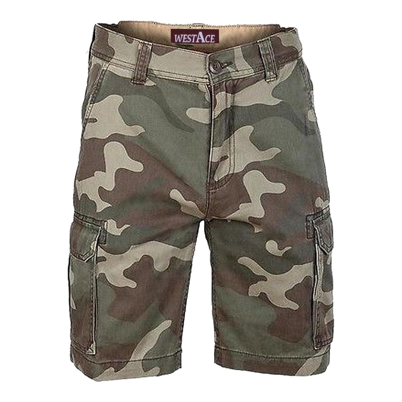 ea9d380b1631 Sportliche Arbeitshose aus Baumwolle mit Camouflage-Muster, kurze Chinohose  f uuml r Herren  Amazon.de  Bekleidung