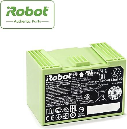 iRobot Batteria agli Ioni di Litio Parti Originali, Compatibile con Roomba Serie ei, 26 W, Verde
