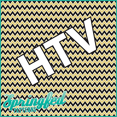 CHEVRON PATTERN #3 HTV Black & Gold Heat Transfer Vinyl 12
