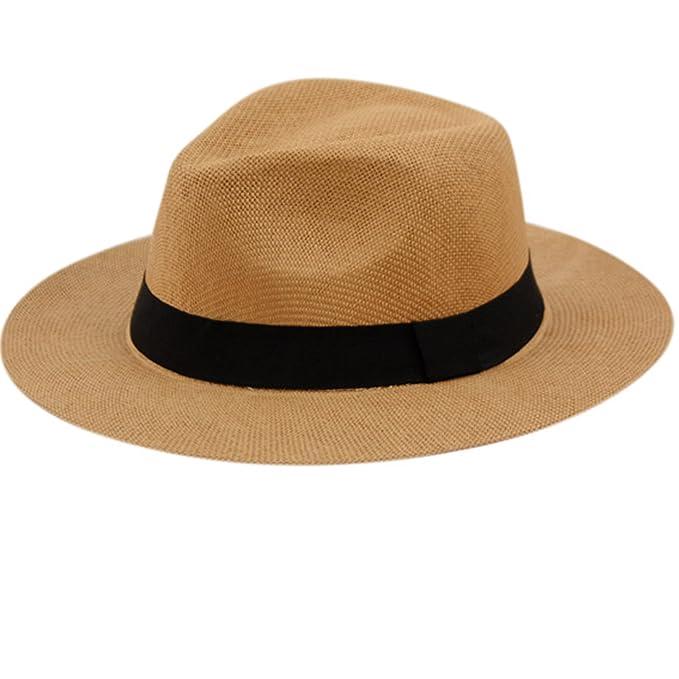 8958e12a87f ANGELA   WILLIAM The Original Panama Matte Toyo Straw Sun Safari Hat (A  Brown)
