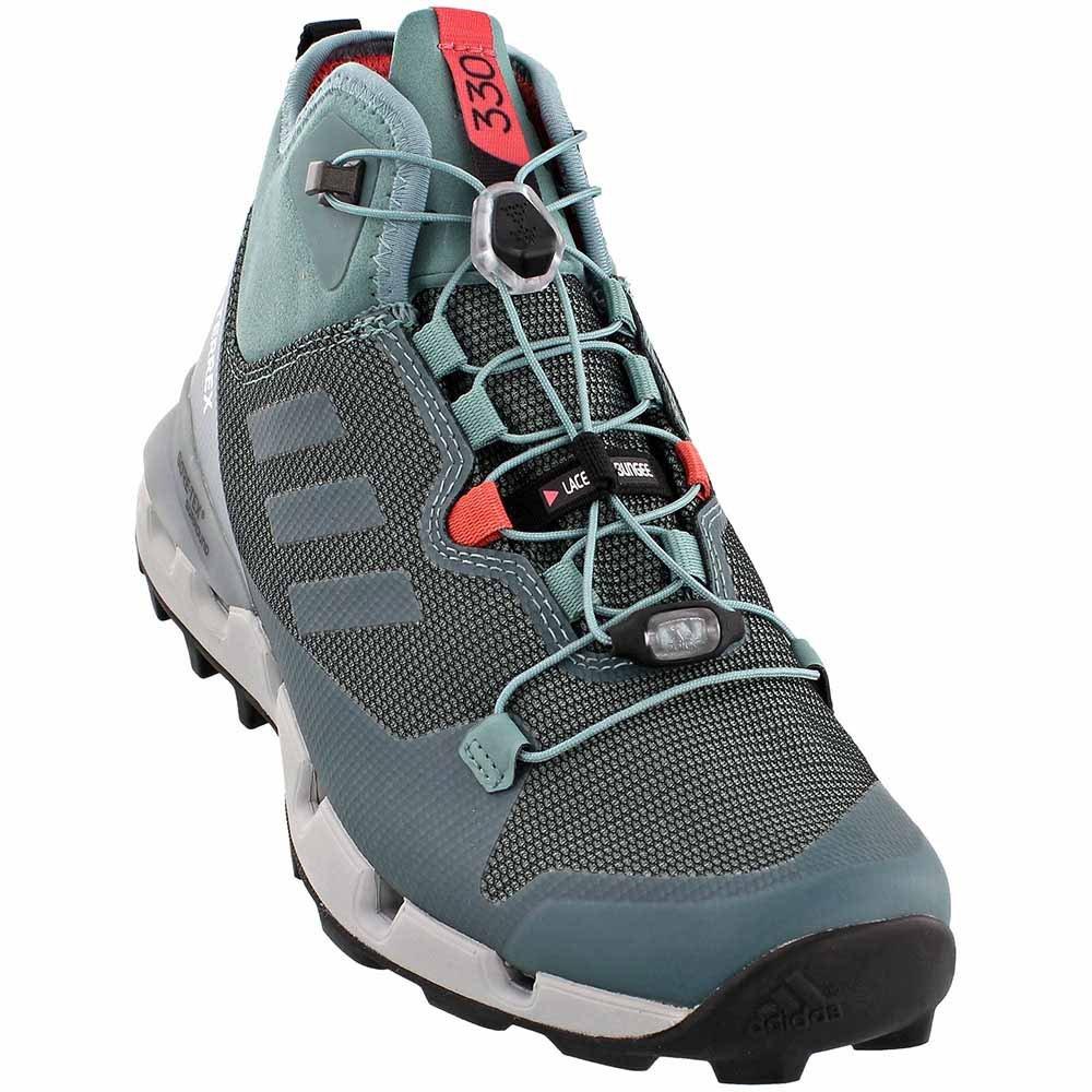 Adidas Terrex Fast GTX Surround Boot - Women's Vapour Steel / Vapour Steel / Tactile Pink 9