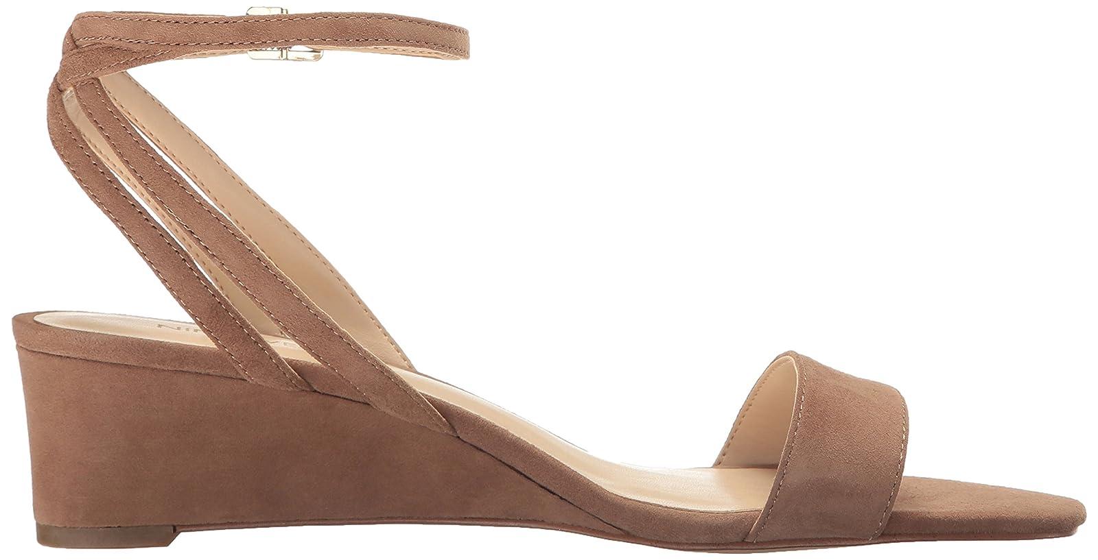 Nine West Women's Lewer Suede Wedge Sandal 8 M US - 7