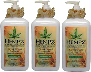product image for HEMPZ Herbal Body Moisturizer Citrine Crystal & Quartz 17 oz 3 Pack