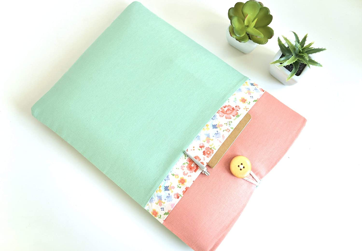 Floral Mint and Mango 11, 12, 13-13.3, 14, 15-15.6 inch Notebook Computer Case Sized for Any Model