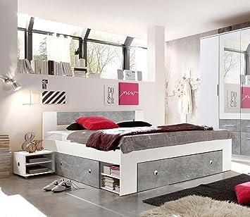 lifestyle4living Bett, Schlafbett, Kojenbett, Schlafzimmerbett ...