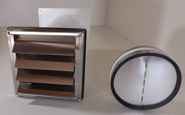 Diseño de la Gran Muralla de caja NW125 campana extractora campana de acero inoxidable válvula antirretorno telescópica de tubo MKWSQLE125BDS: Amazon.es: Hogar